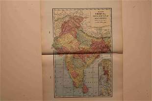1900 Map of India