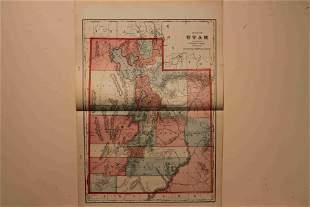 1899 Map of Utah