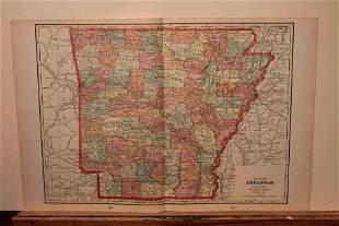 1899 Map of Arkansas