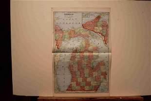 1899 Map of Michigan