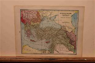 1897 Map of the Turkish Empire