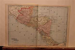 1899 Map of Central America
