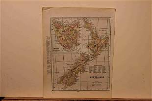 1895 Map of New Zealand