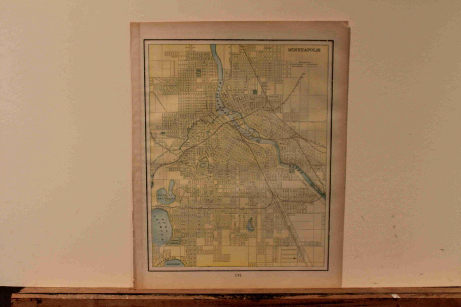 1897 Map of Minneapolis