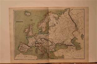 1882 Map of Europe
