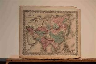 1856 Map of Asia