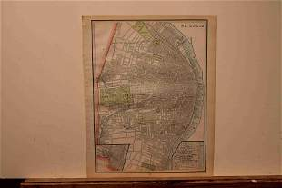 1890 Map of St. Louis