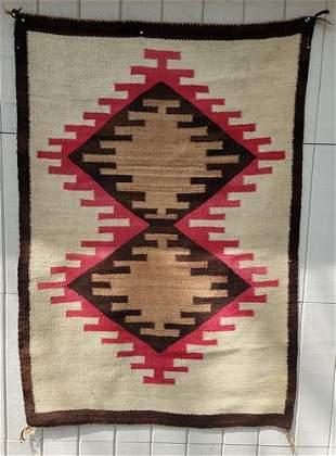 Navajo twill woven regional rug ca 1920's