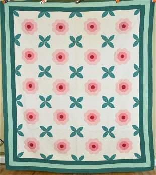 30's Rose of Sharon Applique Quilt