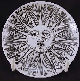 Fornasetti Sun Face Cup Plate