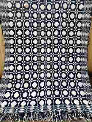 Blue and White 2 panel Coverlet
