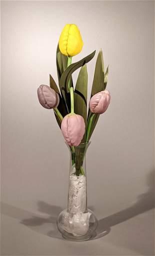 Art Deco Glass Tulips