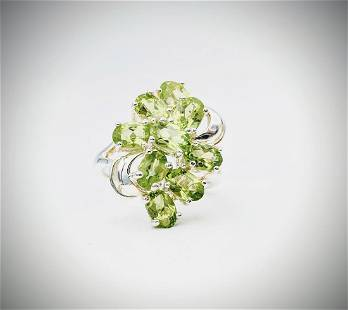 Sterling Silver Sz 7 Peridot Ring