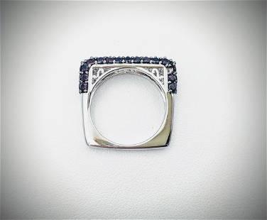 Sterling Silver Sz 7 Pyrope Garnet Ring