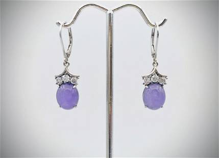 Sterling Silver Three Stone Cubic Zirconia & Violet