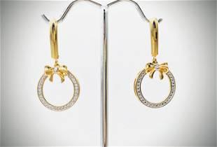 Dangly Wreath w Bow Tie Earrings & Diamonds
