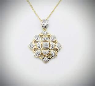 Diamond Pendant w Necklace