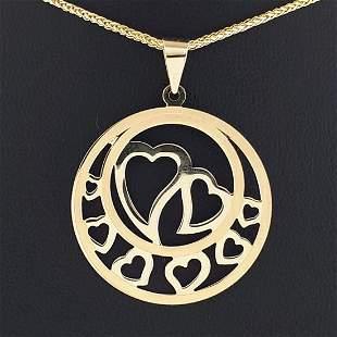14K Yellow Gold - Necklace & Pendant Set