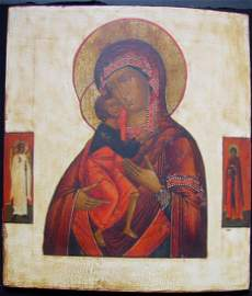 Mother of God of Feodorov,Religious Antique Russian