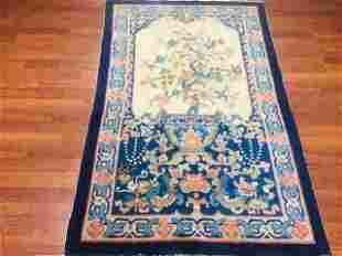 Antique vase and floral Chinese Peking Rug-2741