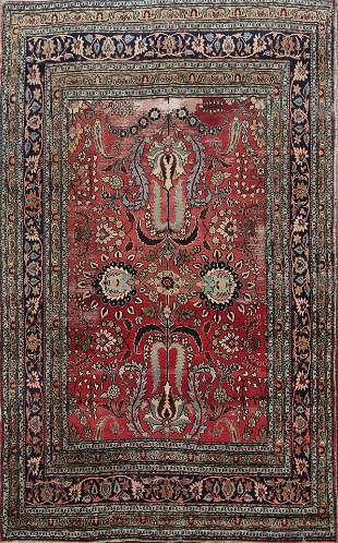 Pre-1900 Antique Vegetable Dye Dorokhsh Persian Area