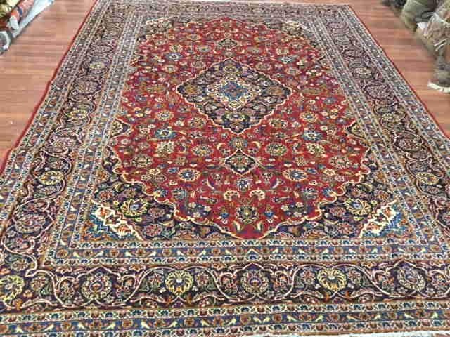Semi antique Persian Kashan Rug-4521
