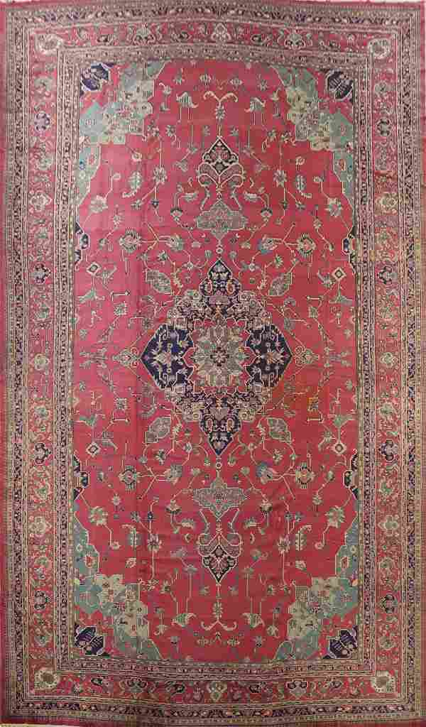 Antique Vegetable Dye Anatolian Oriental Area Rug 16x25