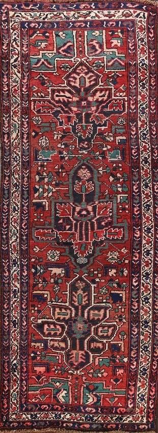Pre-1900 Antique Heriz Bakhshayesh Persian Runner Rug