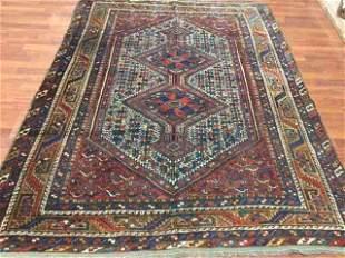 Antique Persian Khamseh/ Shiraz Rug-4510