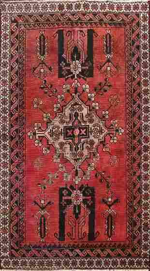 Antique Geometric Ferdos Persian Area Rug 4x6