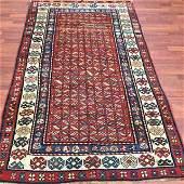 19th C Kazak Caucasian rug