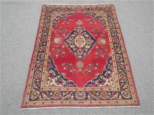Unique Semi Antique Persian Kashan 3.6x4.7
