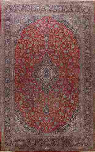 Antique Kashan 100% Vegetable Dye Persian Rug 11x17