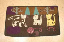"""American Hooked Rug 2' X 3'3"""" Wool,cotton Hand Hooked"""