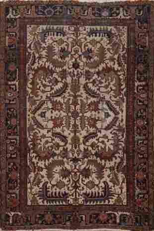 Antique All-Over Heriz Persian Area Rug 6x9