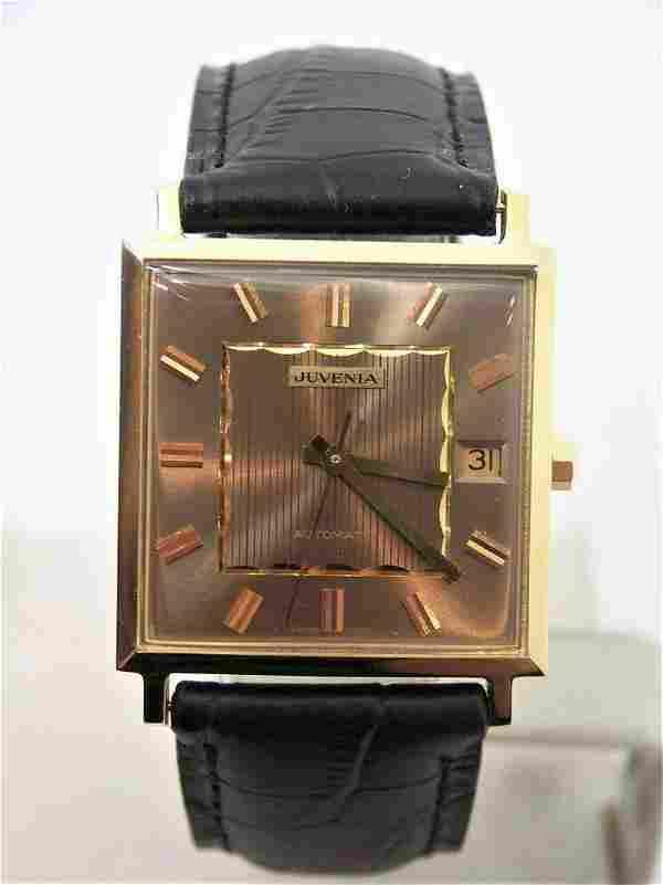 NOS 18K Gold JUVENIA MACHO Mens 25J AUTOMATIC Watch