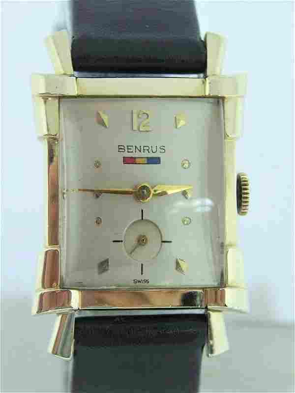 Vintage BENRUS 10k GF Mens Winding Watch c.1940s Cal