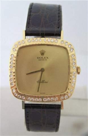 Vintage Ladies 18k ROLEX CELLINI Winding Watch c.1970s