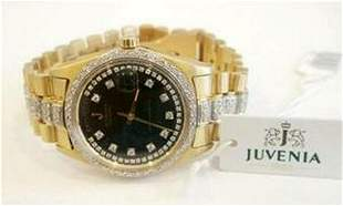NOS 18k Gold JUVENIA PRESIDENT Men's Automatic Day/Date