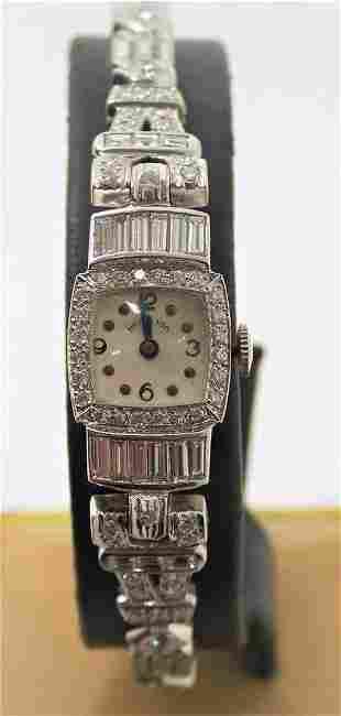 Vintage HAMILTON 1950's Platinum Ladies Watch with 6