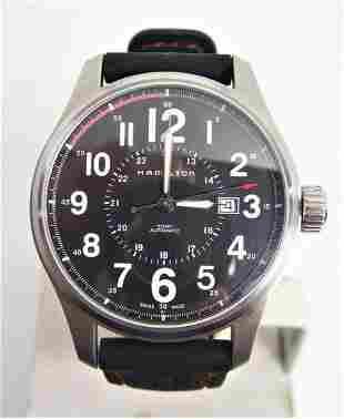 S/Steel Mens HAMILTON KHAKI Automatic Date 44.3 mm
