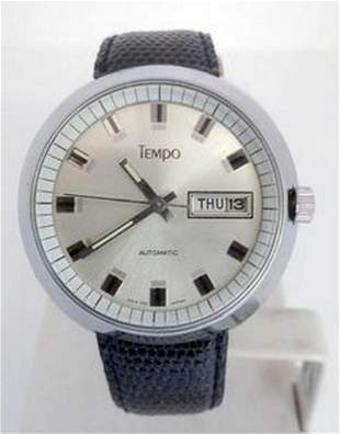Vintage TEMPO Mens Drivers Automatic DAY DATE Watch