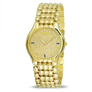 NOS 18k Yellow Gold JUVENIA BIARRITZ Men's watch Ref