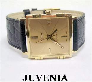 NOS 18K Gold JUVENIA MACHO Mens AUTOMATIC Watch Ref