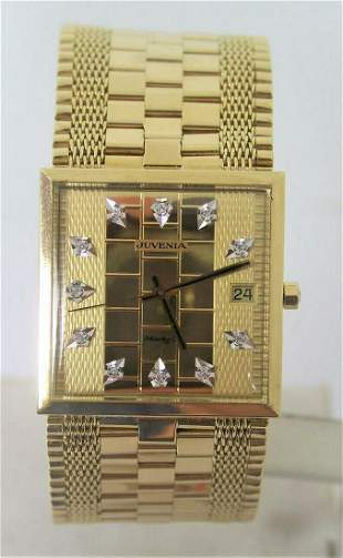 Solid Mens 18K Gold JUVENIA MACHO AUTOMATIC Watch 9612