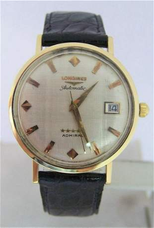 Vintage 18k LONGINES 5 Star Admiral Automatic DATE
