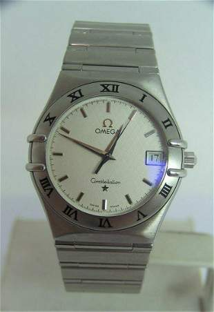 Mens S/Steel OMEGA CONSTELLATION Quartz Watch 33.5mm*