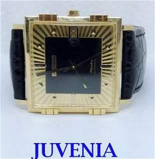 NEW 18K Gold JUVENIA MACHO Mens 25J AUTOMATIC Watch* 1