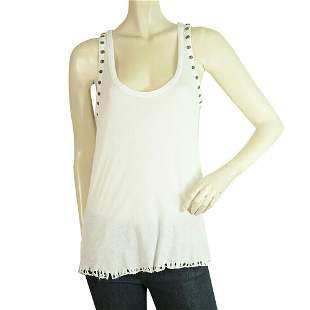 Zadig and Voltaire White Desiree Bis Womans Skulls Tank