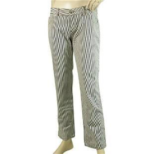Gucci Blue & White Stripes Casual Cotton Summer Pants